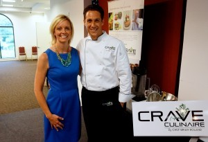 April O'Leary with Chef Brian Roland