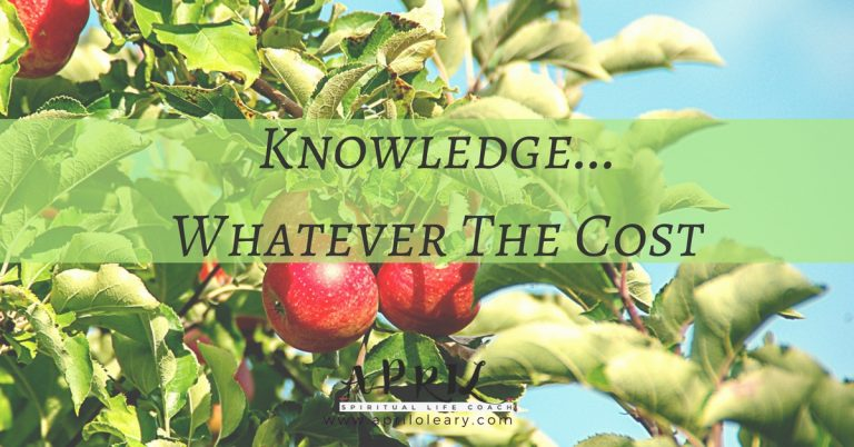 Knowledge…Whatever The Cost