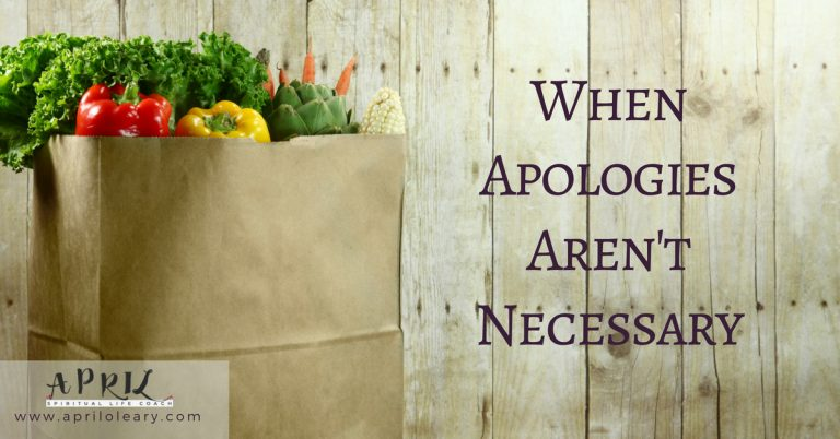When Apologies Aren't Necessary